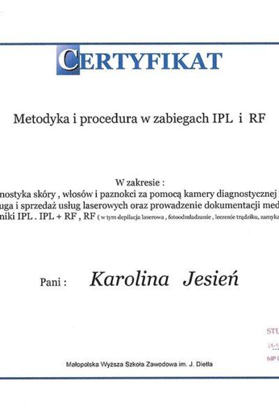 CERT_StudioUrodyAngel_MetodykaIprocedura_IPL_RF_2009_444915
